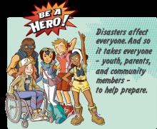 Be a hero logo of ready dor gov for kids