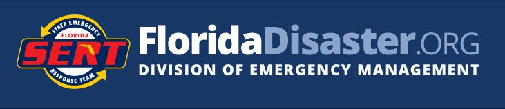 logo for Florida division of emergency management links to the website